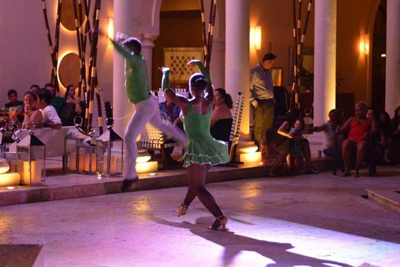 Night entertainment at Paradisus Palma Real in Punta Cana - Dominican Republic