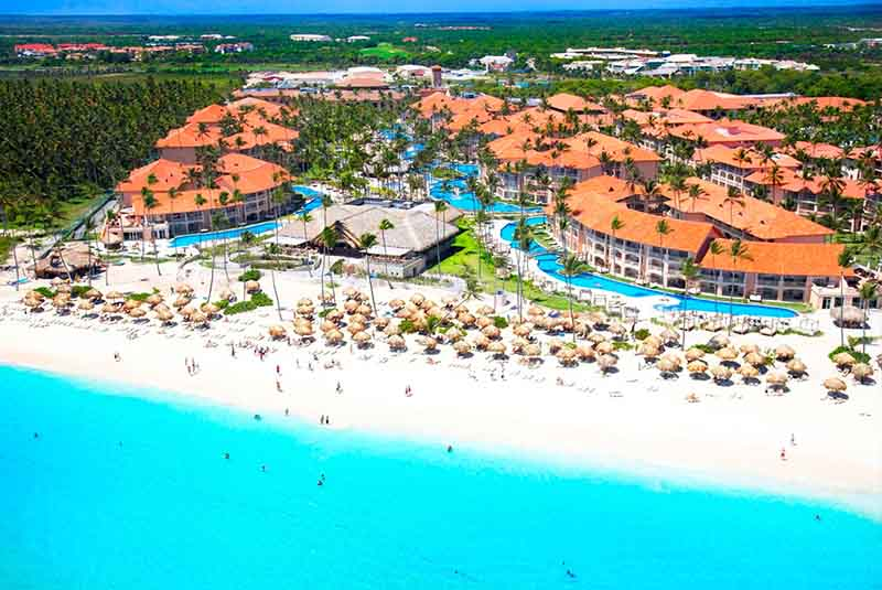 beach front aerial picture from Majestic Elegance Punta Cana