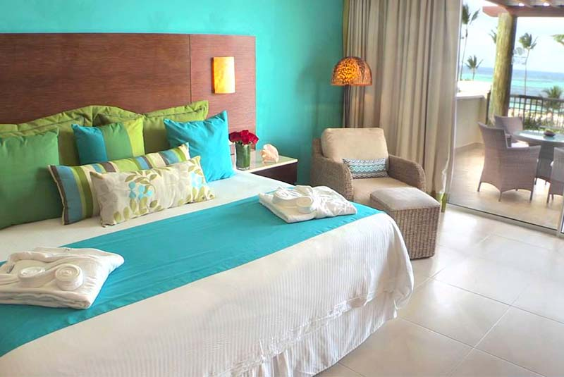 inside room with beach view at Secrets Royal Beach in Punta Cana