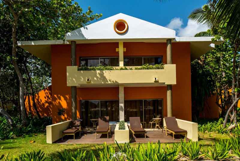 bungalow of Palladium Palace Punta Cana hotel in Dominican Republic