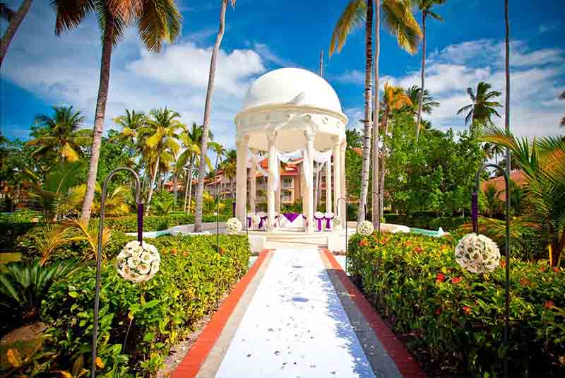 beach gazebo for weddings in hotels garden area - Majestic Elegance Punta Cana