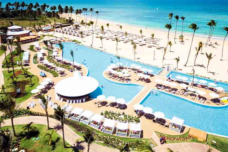 hotels beach and pool view from Sensatori Punta Cana hotel in Uvero Alto - Dominican Republic