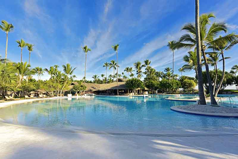 hotels pool in Iberostar Bavaro Suites in Punta Cana - Dominican Republic