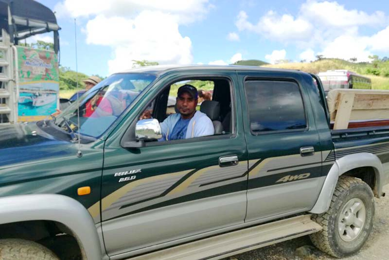 driver with pick up truck in Miches - Dominican Republic