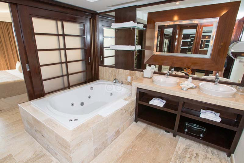 bath room view of suite in Reserve at Paradisus Palma Real in Punta Cana - Dominican Republic