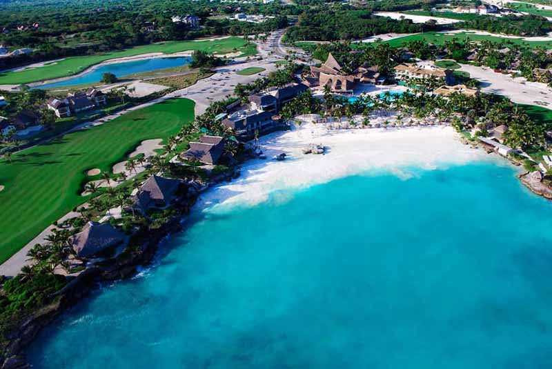 aerial picture from Eden Roc hotel in Cap Cana -Dominican Republic