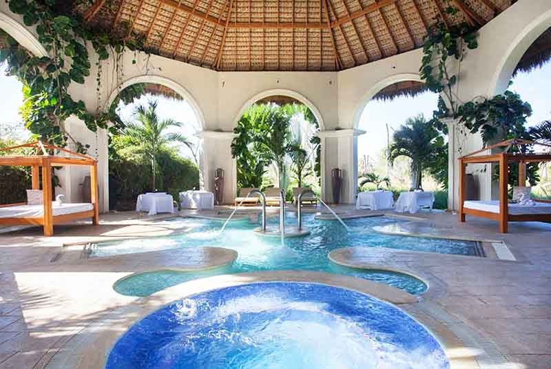 Spa area at Majestic Elegance hotel in Punta Cana- Dominican Republic