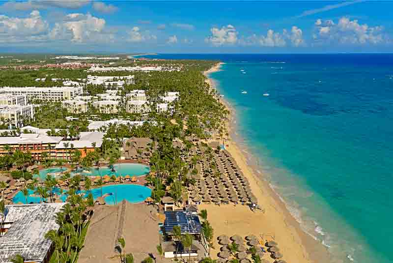 hotels beach view at Iberostar Dominicana in Punta Cana