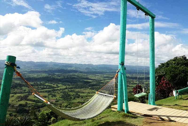 hammock and swing on mountain top in Miches - Dominican Republic