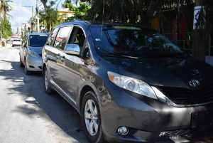 local taxi vehicles in streets of Bavaro - Punta Cana
