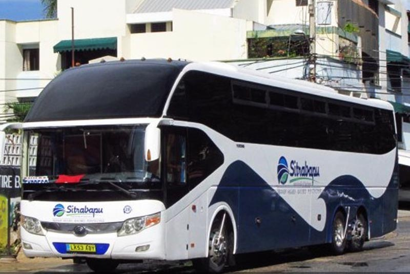 big bus from local transportation company in Bavaro - Punta Cana