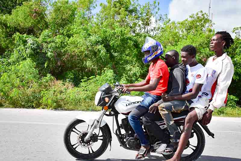 group driving on motorcyclein Punta Cana - Dominican Republic