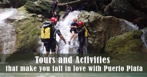 people canyoning in Puerto Plata - Dominican Republic