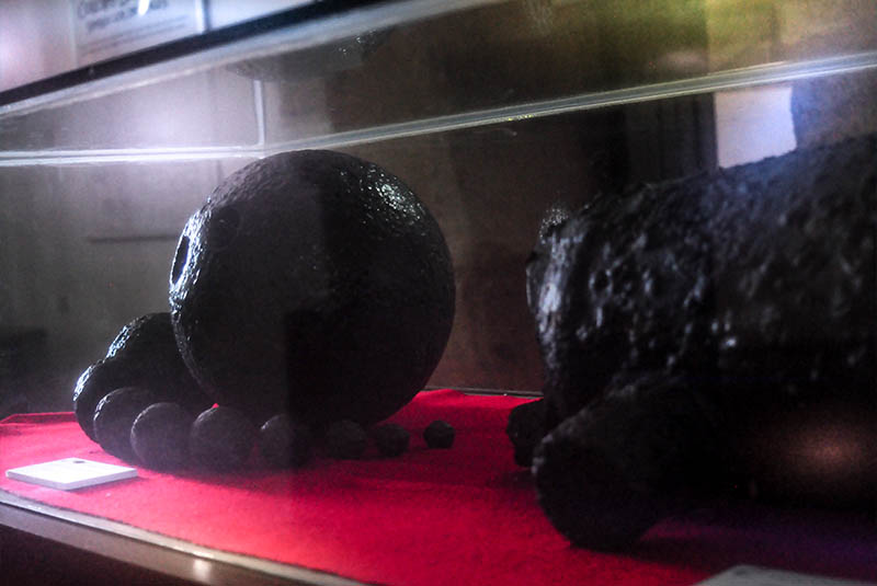canon balls exhibition in museum at fortress in Puerto Plata - Dominican Republic