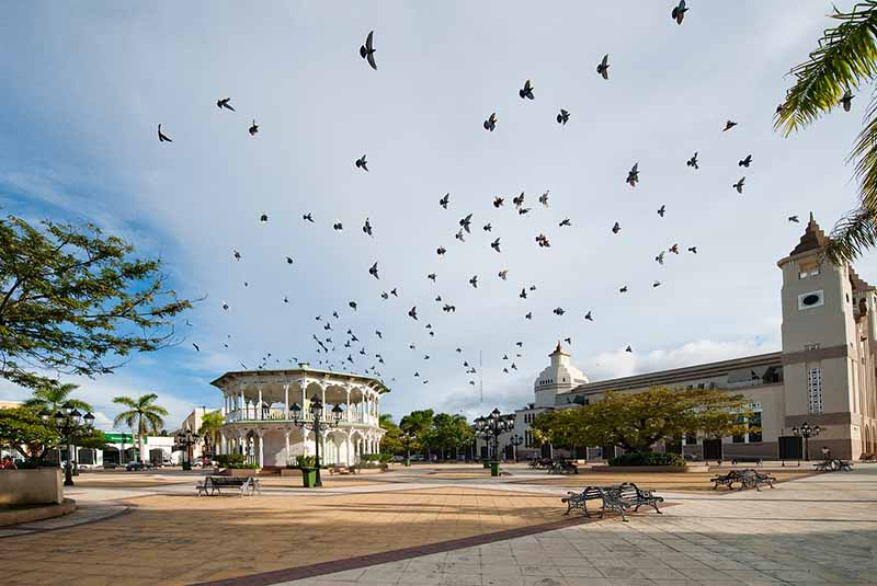 Central Park in Puerto Plata with Gazebo - Dominican Republic