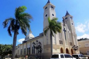 front view of Cathedral in Puerto Plata - Dominican Republic