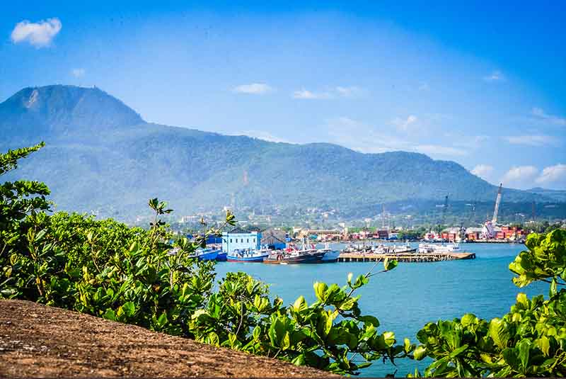 view from fort San Felipe to Isabela de Torres Mountain in Puerto Plata