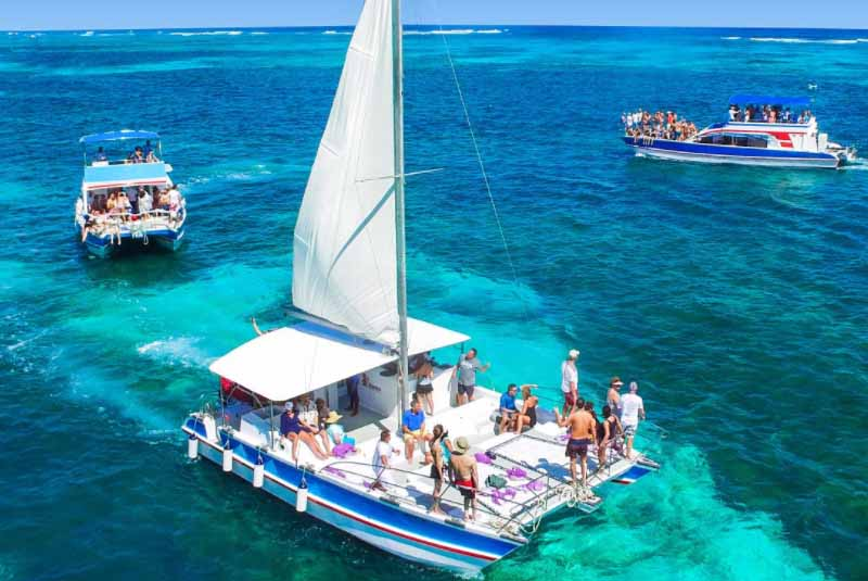 Sailing boats in Punta Cana - Dominican Republic