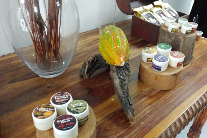 products made out of chocolate at chocolate factory in Puerto Plata - Dominican Republic