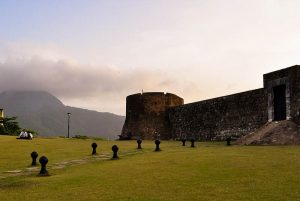 fortress Puerto Plata with view at Isabela Mountain in Puerto Plata - Dominican Republic