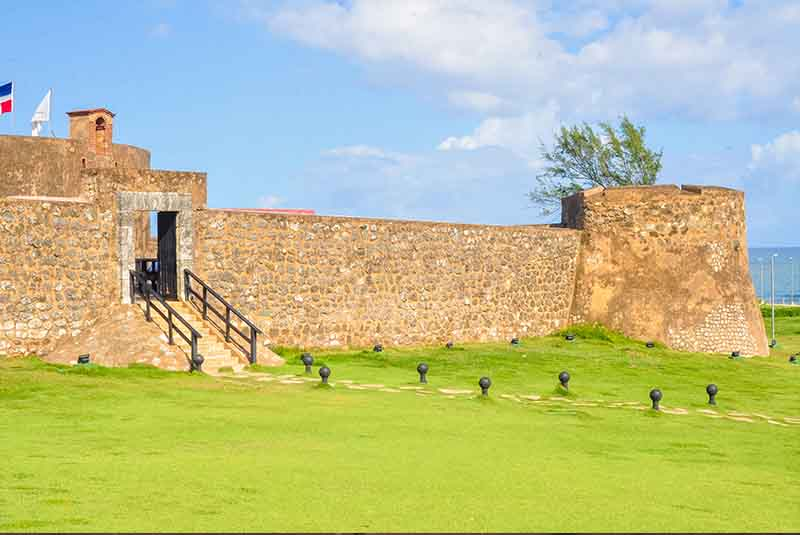 fortress San Felipe in Puerto Plata from outside- Dominican Republic
