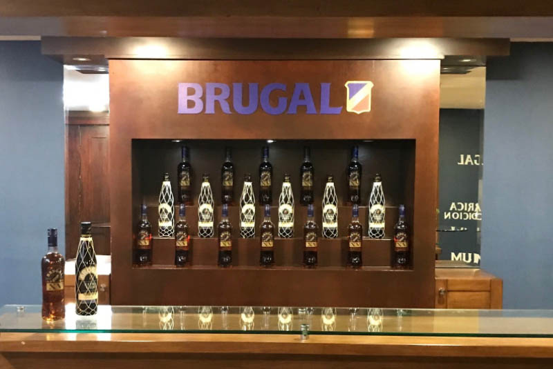 rum display at Brugal rum factory in Puerto Plata - Dominican Republic