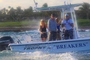 family on fishing excursions in Cap Cana - Dominican Republic