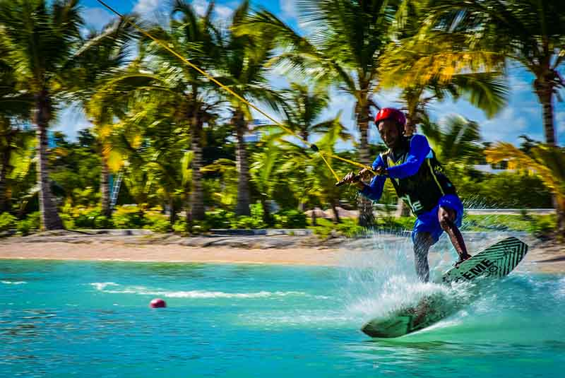 man surfing professionally at Rad Park Punta Cana water park - Dominican Republic