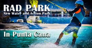 man surfing at water park in Punta Cana - Dominican Republic