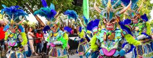 carnival performers in Punta Cana parade