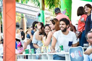 guests having a great time on Carnival celebration in Punta Cana - Dominican Republic