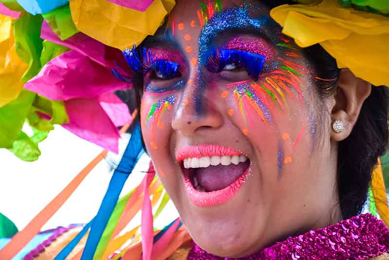 Colorful Carnival performer at the Punta Cana Carnival - Dominican Republic