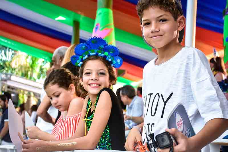 children enjoying the Carnival in Punta Cana - Dominican Republic