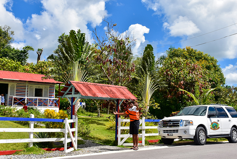 guide inviting to visit countryside house in Anamuya Punta Cana - Dominican Republic