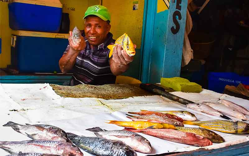 fisherman from Higuey market, Dominican Republic