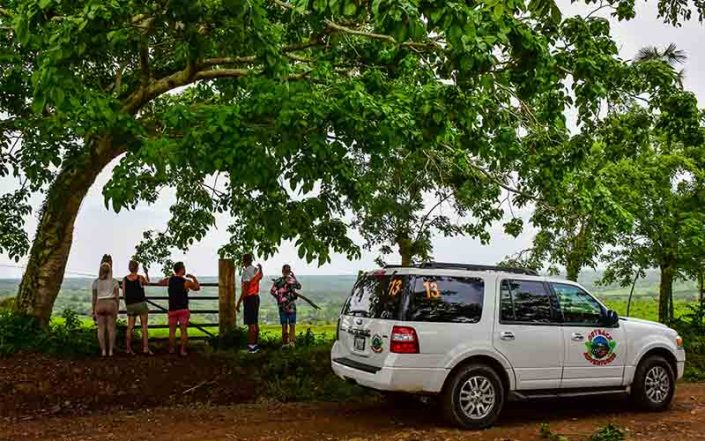 drive through Higuey countryside in privatized vehicle - Dominican Republic