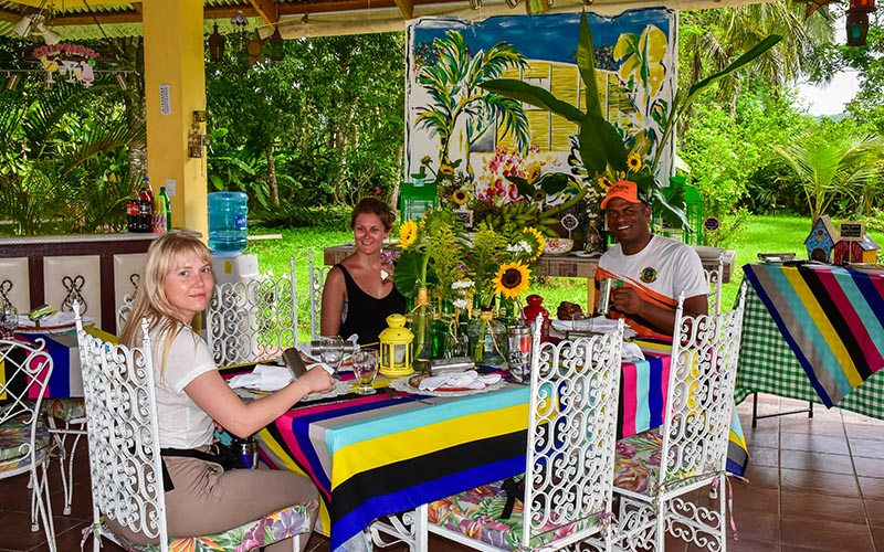 Dominican lunch at Campito Loving, near Higuey
