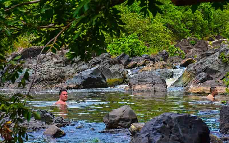 swim at local fresh water oasis - river in Higuey - Dominican Republic