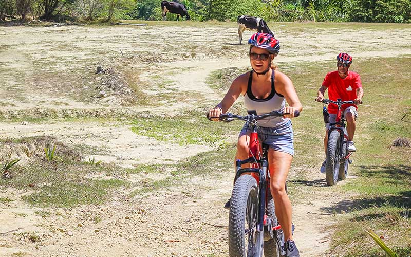 enjoy an easy to ride electric bike tour over countryside roads and paths of Puerto Plata - Dominican Republic