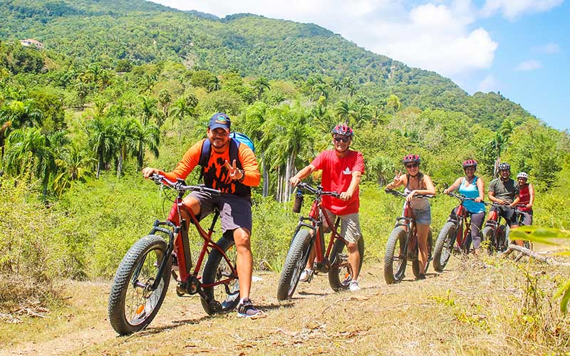 in small groups experienced guides take you on an easy to do ride with electric bikes - Puerto Plata