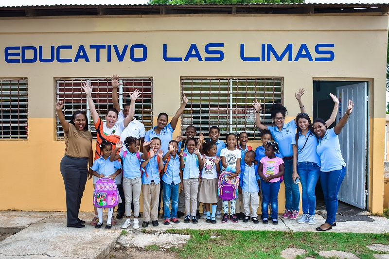 small school in countryside of Higuey receives donation brought by Outback Adventures - Dominican Republic
