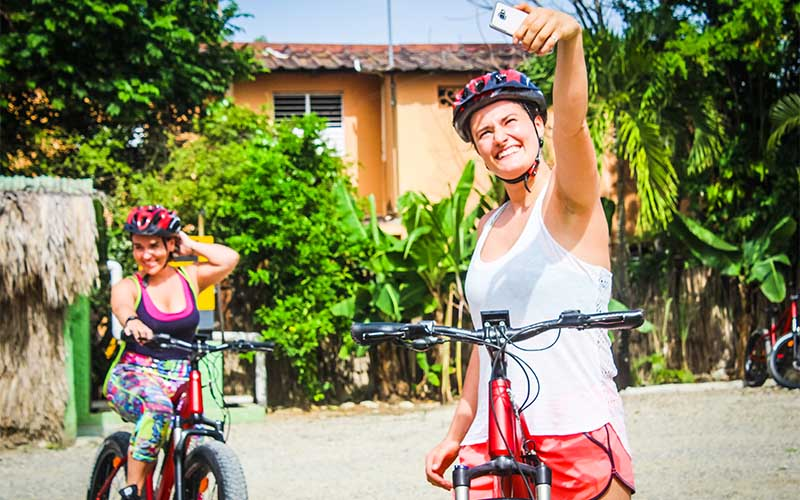 safety equipment and plenty of picture opportunities are include in Puerto Plata's bike tour - Dominican Republic